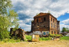 Ruins of the old metallurgical plant Royalty Free Stock Photos