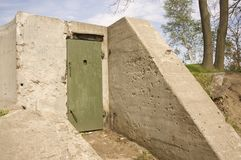 Ruins of an old military bunker Royalty Free Stock Photo