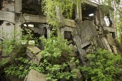 Ruins of an old military bunker Royalty Free Stock Photos