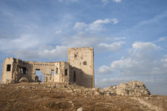 Ruins of the old Moorish castle of the Star in Teba, Malaga Stock Photography