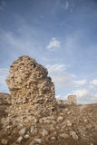 Ruins of the old Moorish castle of the Star in Teba, Malaga Stock Photos