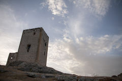 Ruins of the old Moorish castle of the Star in Teba, Malaga Royalty Free Stock Photography