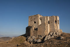 Ruins of the old Moorish castle of the Star in Teba, Malaga Royalty Free Stock Image