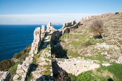 Ruins of the old Navarino castle, Peloponnesus, Greece Royalty Free Stock Photo