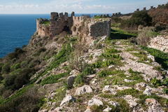 Ruins of the old Navarino castle, Peloponnesus, Greece Stock Photo