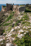 Ruins of the old Navarino castle, Peloponnesus, Greece Royalty Free Stock Image