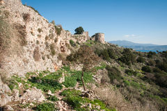 Ruins of the old Navarino castle, Peloponnesus, Greece Stock Image