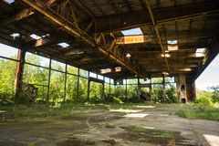 Ruins of  old Nazi airfield on  Baltic spit. Kaliningrad redion, Russia Stock Image