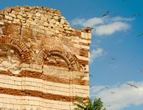 Ruins in Old Nessebar Bulgaria Royalty Free Stock Photography