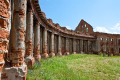 The ruins of the old palace in Belarus Stock Image