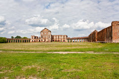 The ruins of the old palace in Belarus royalty free stock photography