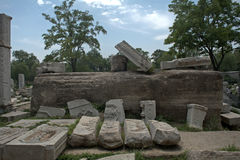 Ruins of the old palace in Yuanmingyuan Park, Beijing, China Stock Photo