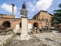Ruins of the Old Princely Court, Bucharest Stock Photos