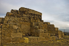 Ruins of old roman city of Nora, island of Sardinia Royalty Free Stock Photography