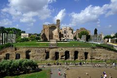 The ruins of old Rome Stock Images