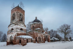 The ruins of the old Russian church. Stock Image