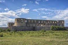 Ruins of old scandinavian castle Royalty Free Stock Photography