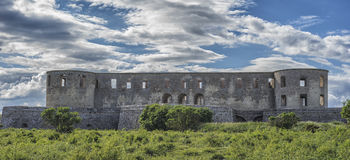Ruins of old scandinavian castle Royalty Free Stock Photos