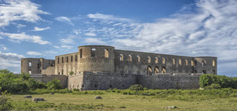 Ruins of old scandinavian castle Royalty Free Stock Images