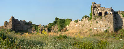 Ruins of old Side town. Turkey Stock Photography