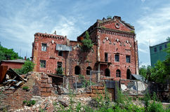 Ruins of old Soviet factory. Rostov-on-Don, Russia Royalty Free Stock Photos