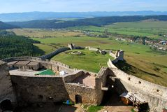 The ruins of the old Spis Castle. In Slovakia stock images