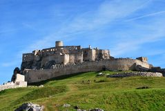 The ruins of the old Spis Castle. In Slovakia royalty free stock images