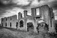 Ruins of an old stone house royalty free stock photo