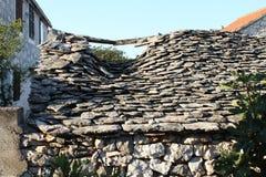 Ruins in the old stone village of Razanj Stock Photos
