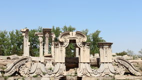 Ruins in Old Summer Palace Stock Image