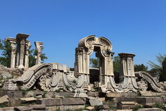 Ruins in Old Summer Palace Royalty Free Stock Image