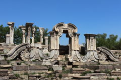 Ruins in Old Summer Palace Royalty Free Stock Photography