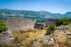 Ruins of old Sutomore fortress Royalty Free Stock Photos