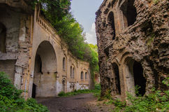 Ruins of an old Tarakanivsky Fort near Dubno, Ukraine Stock Images