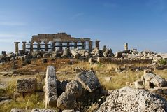 Ruins of the old temple Royalty Free Stock Image