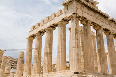 Ruins of old temple in Athens, Peloponnese, Royalty Free Stock Images