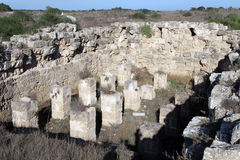 Ruins in Salamis Stock Photos