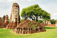 Ruins of old temples Stock Photography