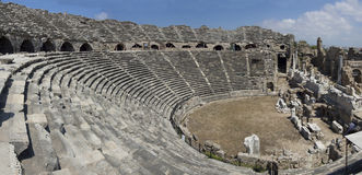 Ruins of old theater in Side, Turkey Stock Photography
