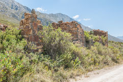 Ruins of old toll house on the Swartberg Pass Stock Photos