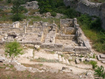 The ruins of the old town of Hersonissos Stock Images