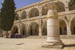Ruins in old town of Jerusalem,Israel Stock Photography