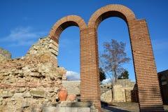 Ruins in old town Nesebar, Bulgaria Stock Photo