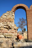 Ruins in old town Nesebar, Bulgaria Stock Photo
