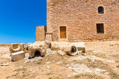Ruins of old town in Rethymno, Crete, Greece. Stock Image