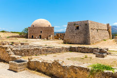 Ruins of old town in Rethymno, Crete, Greece. stock photo