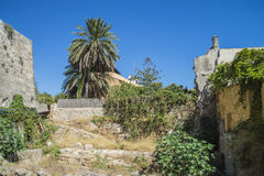 Ruins in the old town of rhodes Stock Image