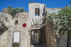 Ruins in the old town of rhodes Stock Photo