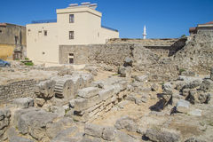 Ruins in the old town of rhodes Royalty Free Stock Photography