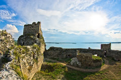 Ruins of old turkish fortress Ram near Danube river Stock Images